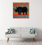 African Animal IV Wall Art Print on the wall