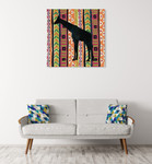 African Animal Jewel III Wall Art Print on the wall