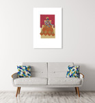 African Royals II Wall Art Print on the wall