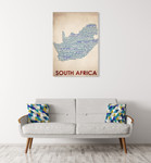 South Africa Wall Art Print on the wall