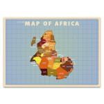 Upside Down Africa Wall Art Print