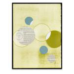 Light Lime Word Bubble Wall Art Print