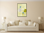 Light Lime Word Bubble Wall Art Print on the wall