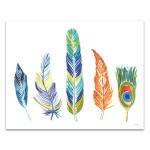 Rainbow Feathers III Wall Art Print