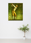The Young Golfer on the wall