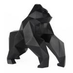 Poly Resin Geometric Gorilla Matte Black