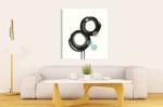 Zen Circles A Wall Art Print on the wall