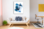 Cerulean Assemblage I Wall Art Print on the wall