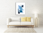 Cerulean Assemblage IV Wall Art Print on the wall