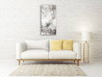 Chaotic Calm Neutral II Wall Art Print on the wall
