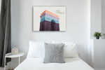 Colorful Paris Wall Art Print on the wall