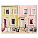 London Houses Spring Wall Art Print