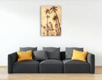 Palm Vista V Wall Art Print on the wall