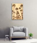 Palm Vista VI Wall Art Print on the wall