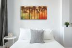 Palm Paradise Wall Art Print on the wall