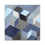 Cubic in Blue I Wall Art Print