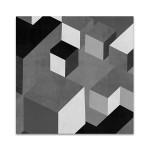 Cubic in Grey I Wall Art Print