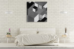 Cubic in Grey I Wall Art Print on the wall