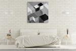Cubic in Grey II Wall Art Print on the wall