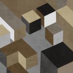 Cubic in Neutral I Wall Art Print