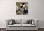 Cubic in Neutral I Wall Art Print on the wall
