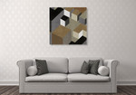 Cubic in Neutral II Wall Art Print on the wall