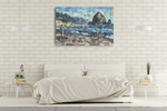 Evening in Cannon Beach Wall Art Print on the wall