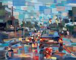 Red Traffic Wall Art Print