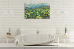 Yellow Grapevines Forever Wall Art Print on the wall