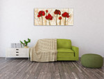 Abstract Poppy Wall Art Print on the wall