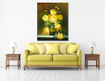 Yellow Roses on the wall