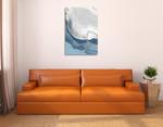 Blue Velour I Wall Art Print on the wall