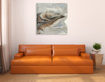 Brown Marble Wall Art Print on the wall