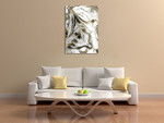 Rivers of Gold Wall Art Print on the wall