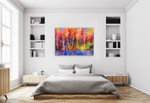 A Autumn Trees Wall Art Print on the wall