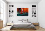 Vintage Bicycle Wall Art Print on the wall