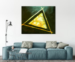 Triangle on the wall