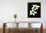 White Blooms on the wall