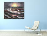 Big Waves on the wall