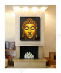 Golden Buddha Seven on the wall
