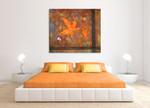 Orange Maple Leaves on the wall