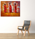Women of Africa on the wall