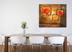 Three Orange Flowers on the wall