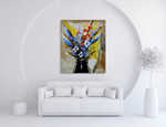 Flowers in a Vase on the wall