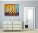 Sailboats on the wall