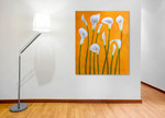 Playful Lilies on the wall