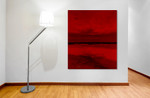 Red Horizon on the wall