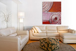 Delightful Swirl II on the wall