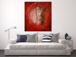 Universe in Red on the wall