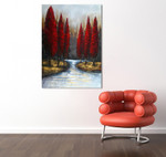 Autumn Lake on the wall